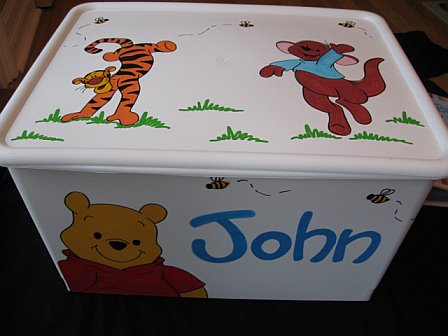 Rolling Toy Cart Custom Order Pooh