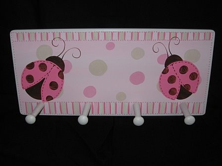 Clothes Rack Mod Ladybug Pink and Brown