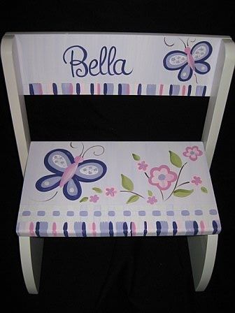 Chair Flip Step Stool Sugar Plum
