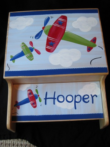 Storage Step Stool Airplanes