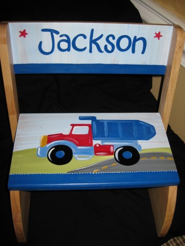 Chair Flip Step Stool Truck