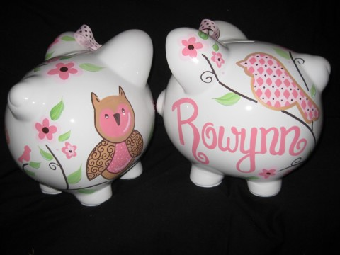 Piggy Bank Love Bird Owl