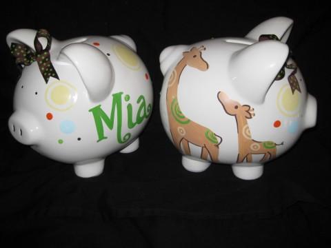 Piggy Bank Mog Giraffe