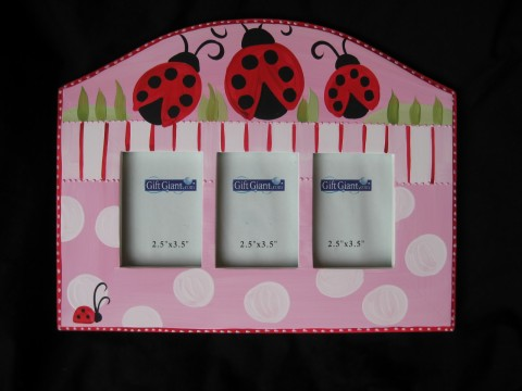 Triple Picture Frame Miss Ladybug