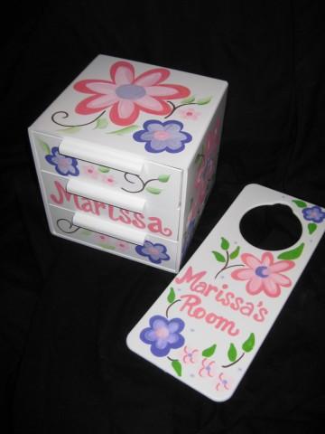 Jewelry Box and Door Hanger Set Chloe
