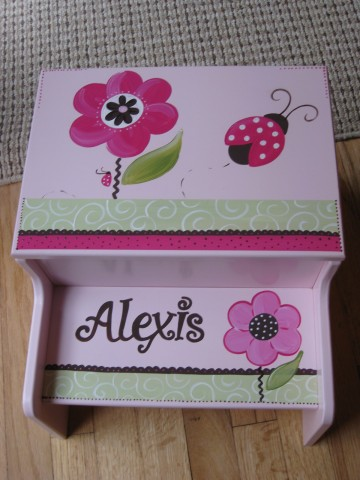 Storage Step Stool Berry Garden