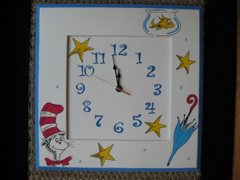 Wall Clock Cat in the Hat