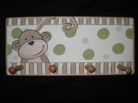 Clothes Rack Brown and Green Monkey