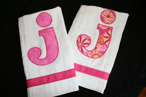 Initial Burpl Cloth set of 2