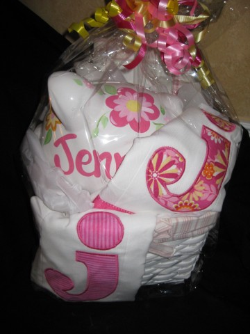Gift Basket Pink and Yellow