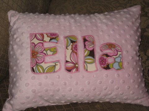 Personalized Minky Pillow Ella Pattern