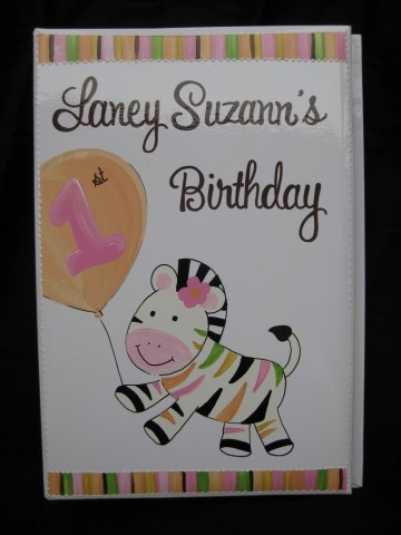 Photo Album Birthday Zebra