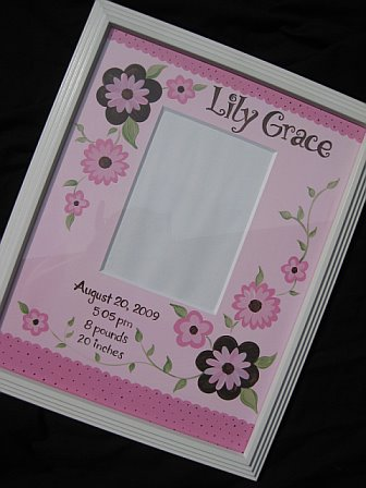 Birth Announcement Picture Frame Luv Bugs