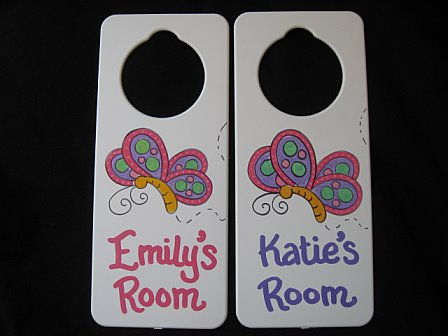 Door Sign Favor Butterfly