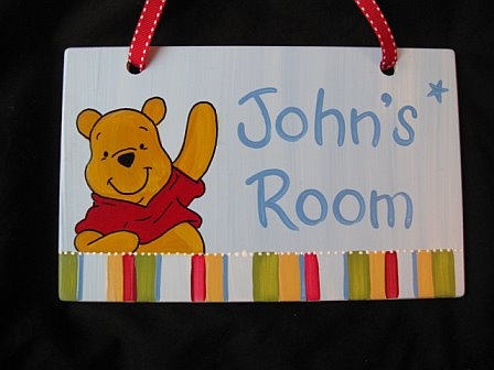 Door Sign Pooh Design