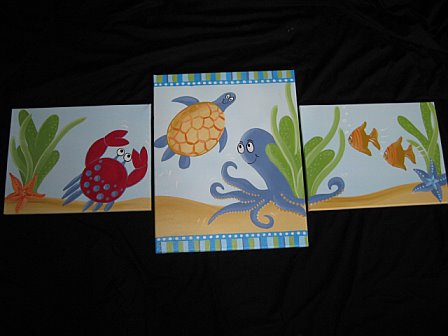 Canvas set of three Freckles Reef