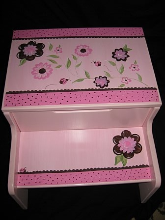 Storage Step Stool Luv Bugs