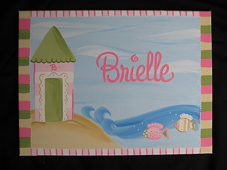 Custom Canvas Painting Fun Beach Cottage