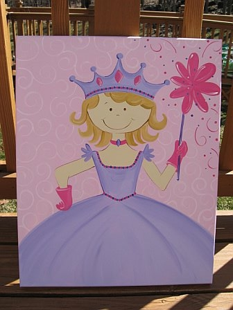 Custom Canvas Painting Princess Amy