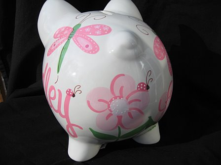 Piggy Bank Pink Dragonfly