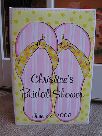Bridal Shower Photo Album Flip Flops