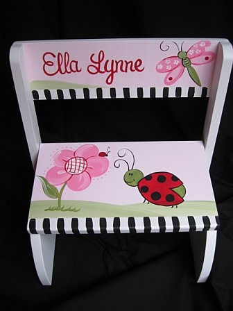 Chair Flip Step Stool Red Ladybug Collection