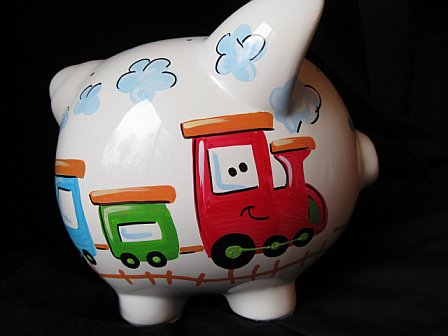 Piggy Bank Happy Choo Choo Train