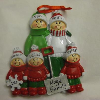 ornament family of 5