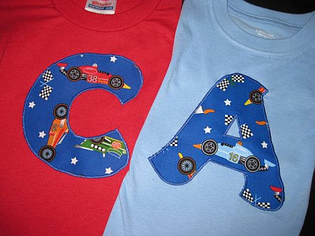 Initial Shirt Race Cars
