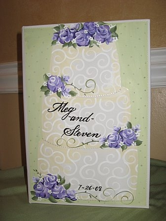 Bridal Shower Photo Album Lavendar Cake