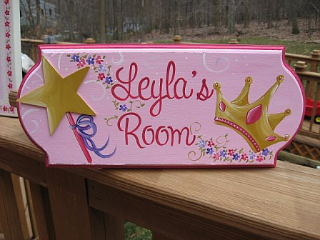 Door Sign Princess Floral