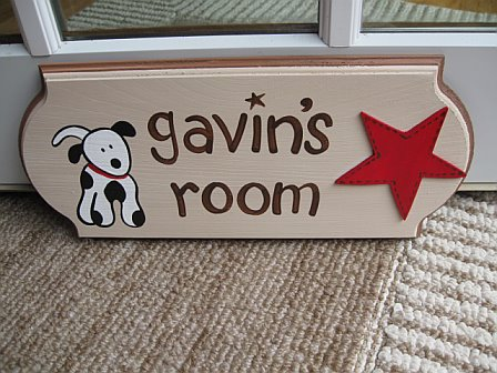 Door Sign Dalmation Red and Brown