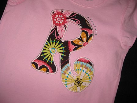 Initial Bling Shirt Carnival Bloom