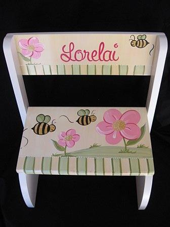 Chair Flip Step Stool Honey Bee