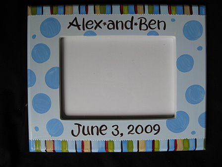 Picture Frame 5x7 Simple Stripe and Dots