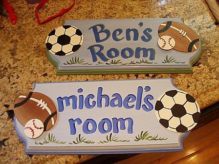 Door Sign Sports