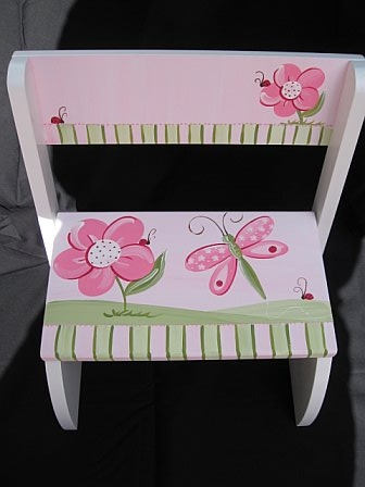 Chair Flip Step Stool Hannah Dragonfly Ladybug
