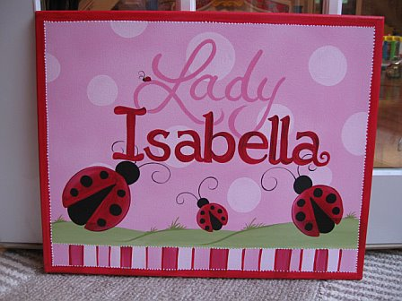 Custom Canvas Miss Ladybug