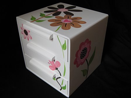 Jewelry Box Mix and Match Brown Flowers