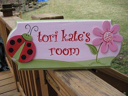 Door Sign Red Ladybug