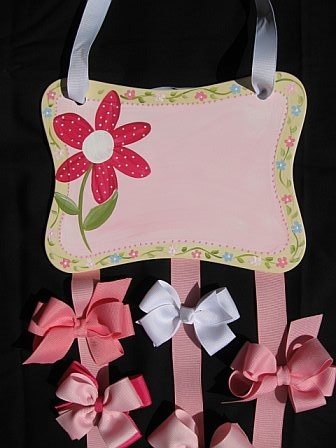 Bow Holder Pink Daisy