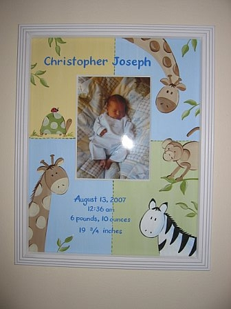 Birth Announcement Picture Frame Christopher Collection