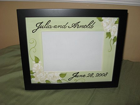Picture Frame Wedding Floral Green and Cream