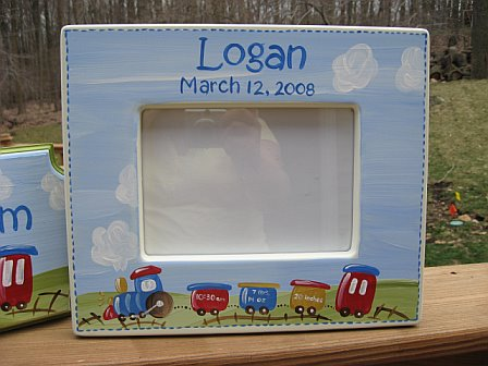 Picture Frame Train with Birth Information