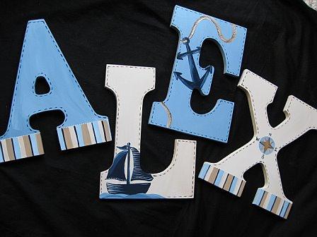 Letters Nautical Design