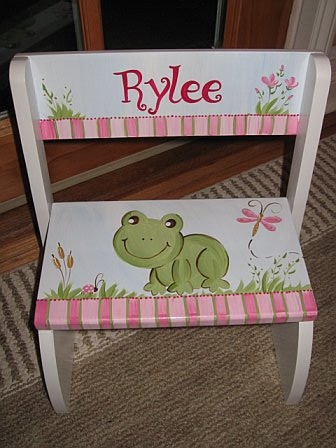 Chair Flip Step Stool Girl Froggy Design