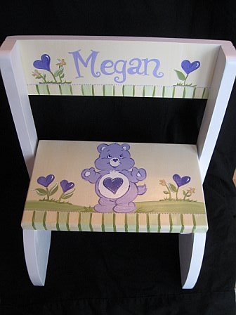Chair Flip Step Stool Care Bear
