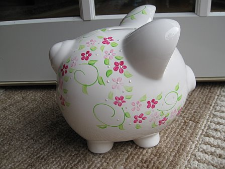 Piggy Bank Pink Shabby Pink