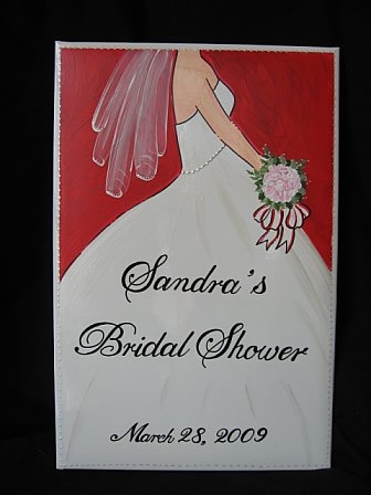 Bridal Photo Album Red Gown