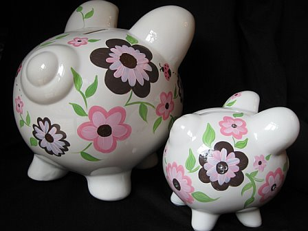 Piggy Bank SMALL Bling Luv Bugs